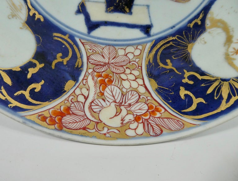 Fired Japanese Porcelain Imari Charger, circa 1700, Genroku Period For Sale
