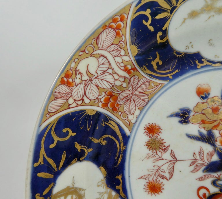 Japanese Porcelain Imari Charger, circa 1700, Genroku Period In Good Condition For Sale In Gargrave, North Yorkshire