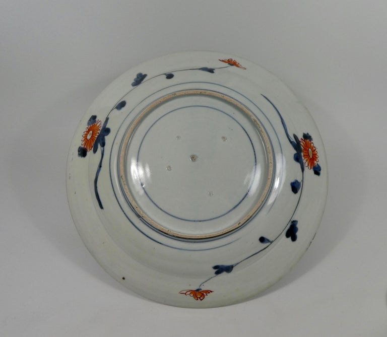 Early 18th Century Japanese Porcelain Imari Charger, circa 1700, Genroku Period For Sale