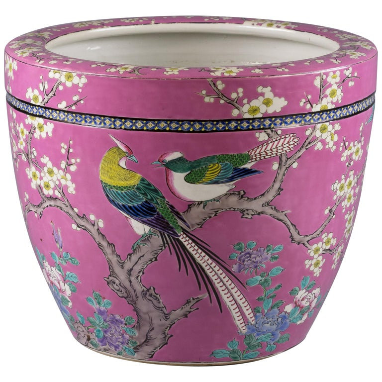 Japanese Porcelain Jardiniere, circa 1900 For Sale