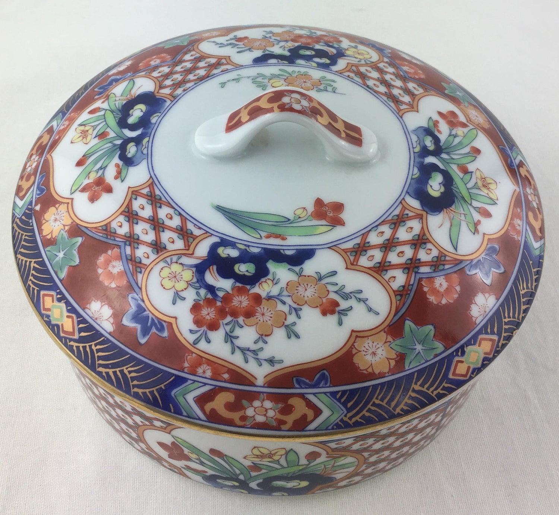 Vintage trinket box,ceramic,porcelain jewelry box,tiny box....sathuma style