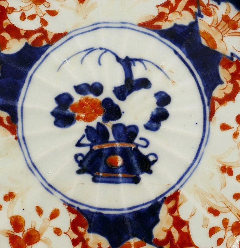 You are admiring a refined Japanese Porcelain plate made by Japan manufacture during the end of the 19th century.
