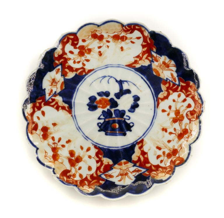 Japanese Porcelain Plate, Japan, End of the 19th Century For Sale 1
