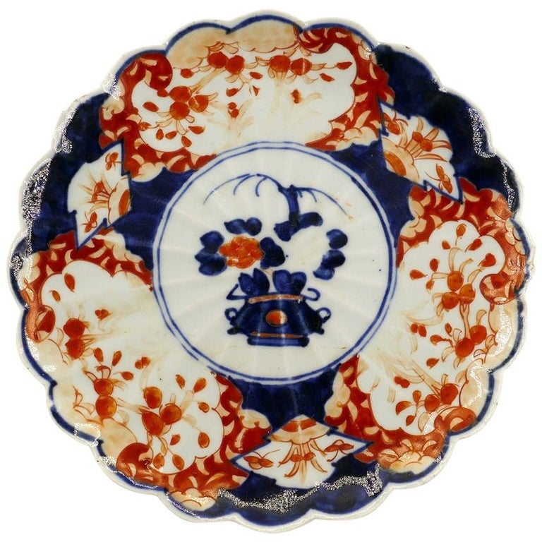 Japanese Porcelain Plate, Japan, End of the 19th Century For Sale
