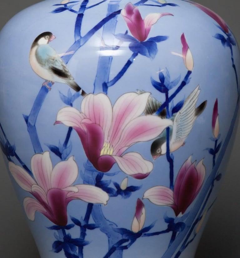 Meiji Japanese Porcelain Studio Art Vase For Sale