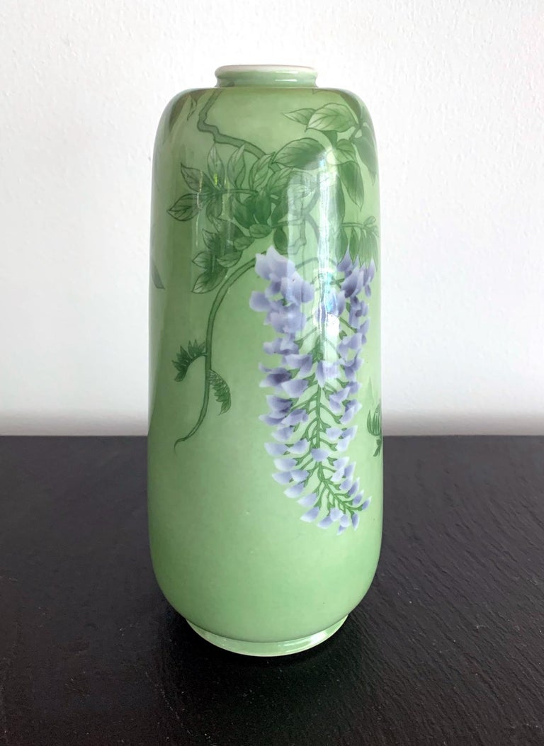 Early 20th Century Japanese Porcelain Vase by Makuzu Kozan Meiji Era For Sale