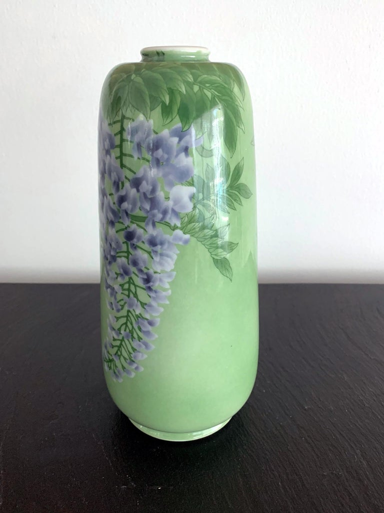 Japanese Porcelain Vase by Makuzu Kozan Meiji Era For Sale 1