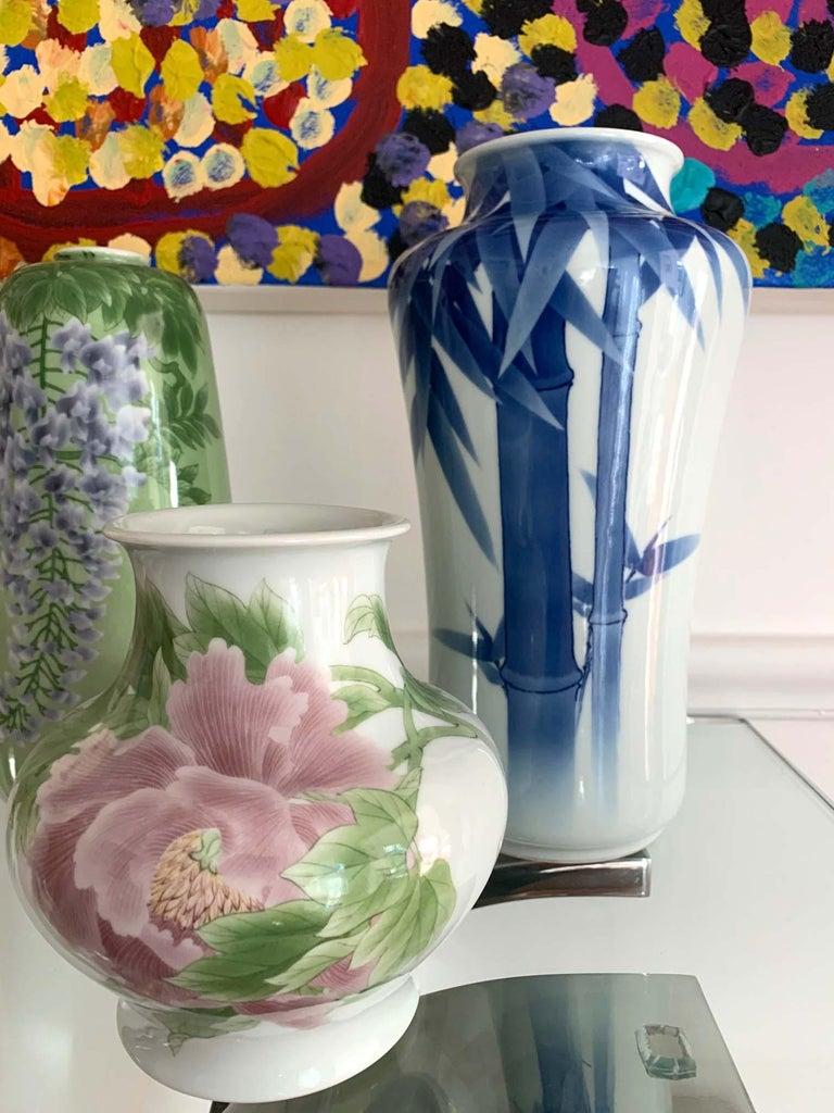 Japanese Porcelain Vase Makuzu Kozan Meiji Period For Sale 4