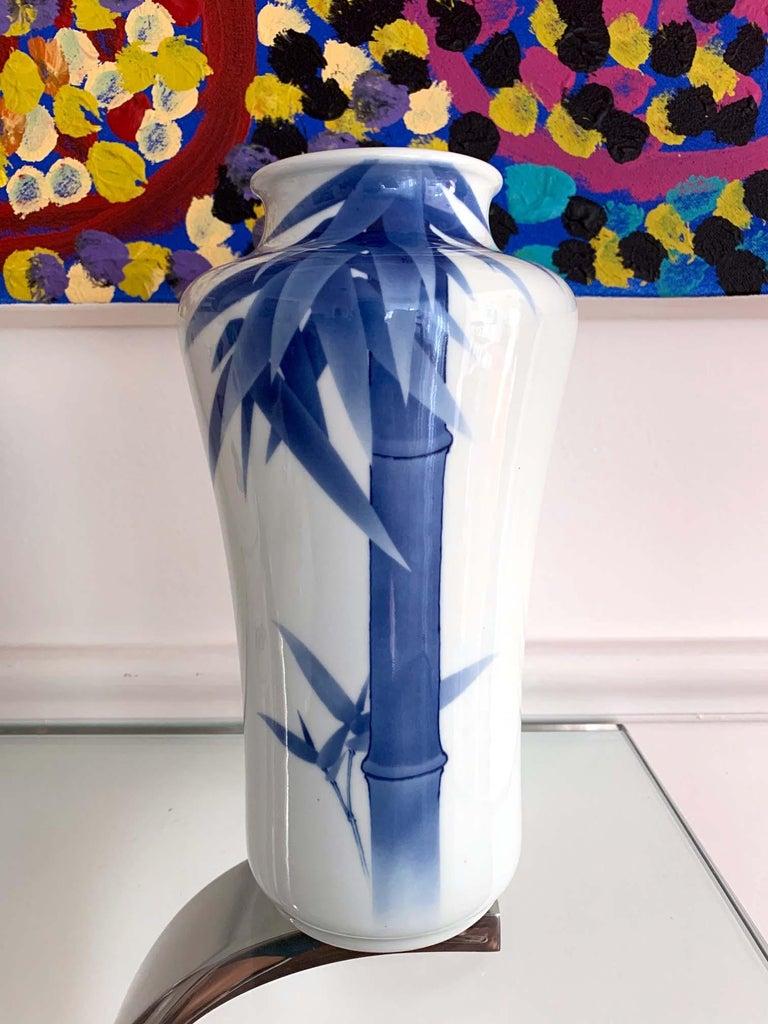 Ceramic Japanese Porcelain Vase Makuzu Kozan Meiji Period For Sale