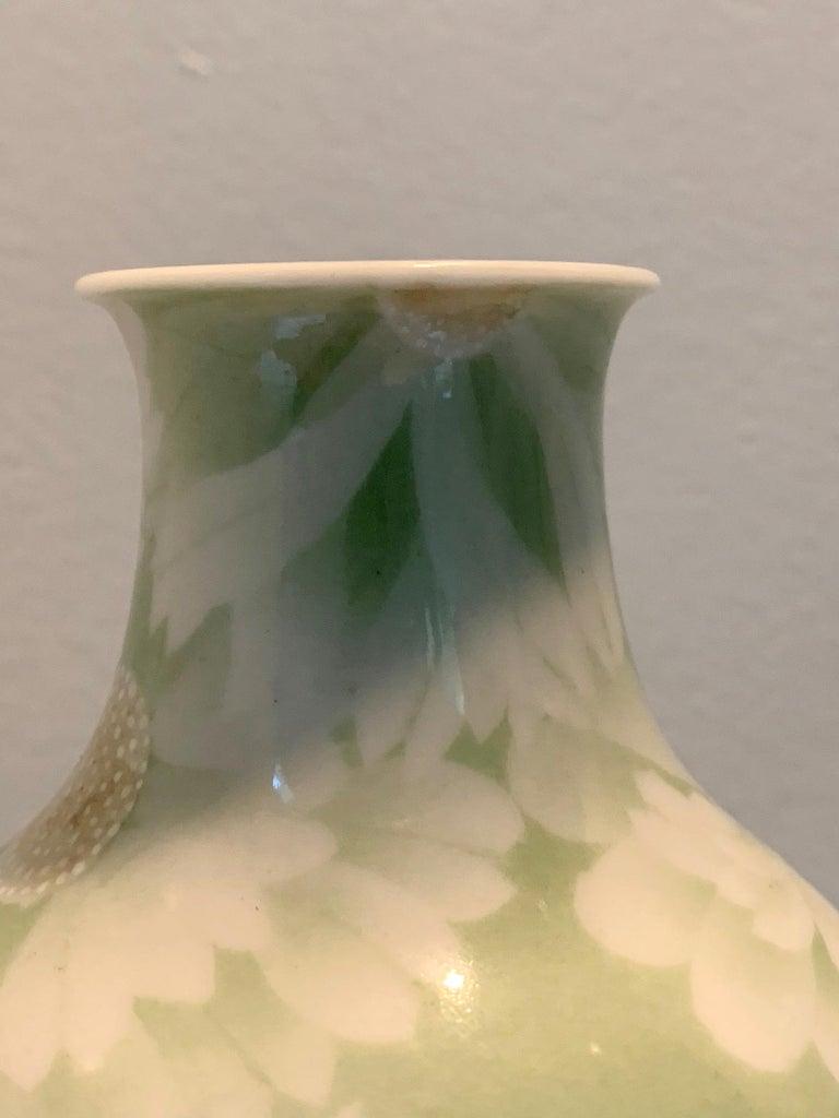 Japanese Porcelain Vase Meiji Period Makuzu Kozan For Sale 6