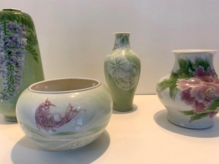 Japanese Porcelain Vase Meiji Period Makuzu Kozan For Sale 10
