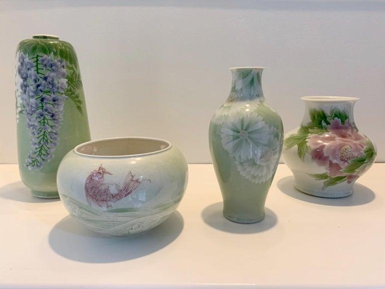 Japanese Porcelain Vase Meiji Period Makuzu Kozan For Sale 11