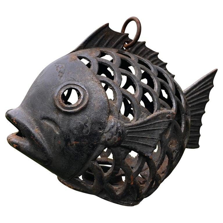 "Japanese Rare ""Fish"" Lighting Lantern For Sale"