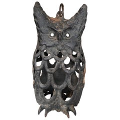 "Japanese Rare Old ""Owl"" Lighting Lantern"