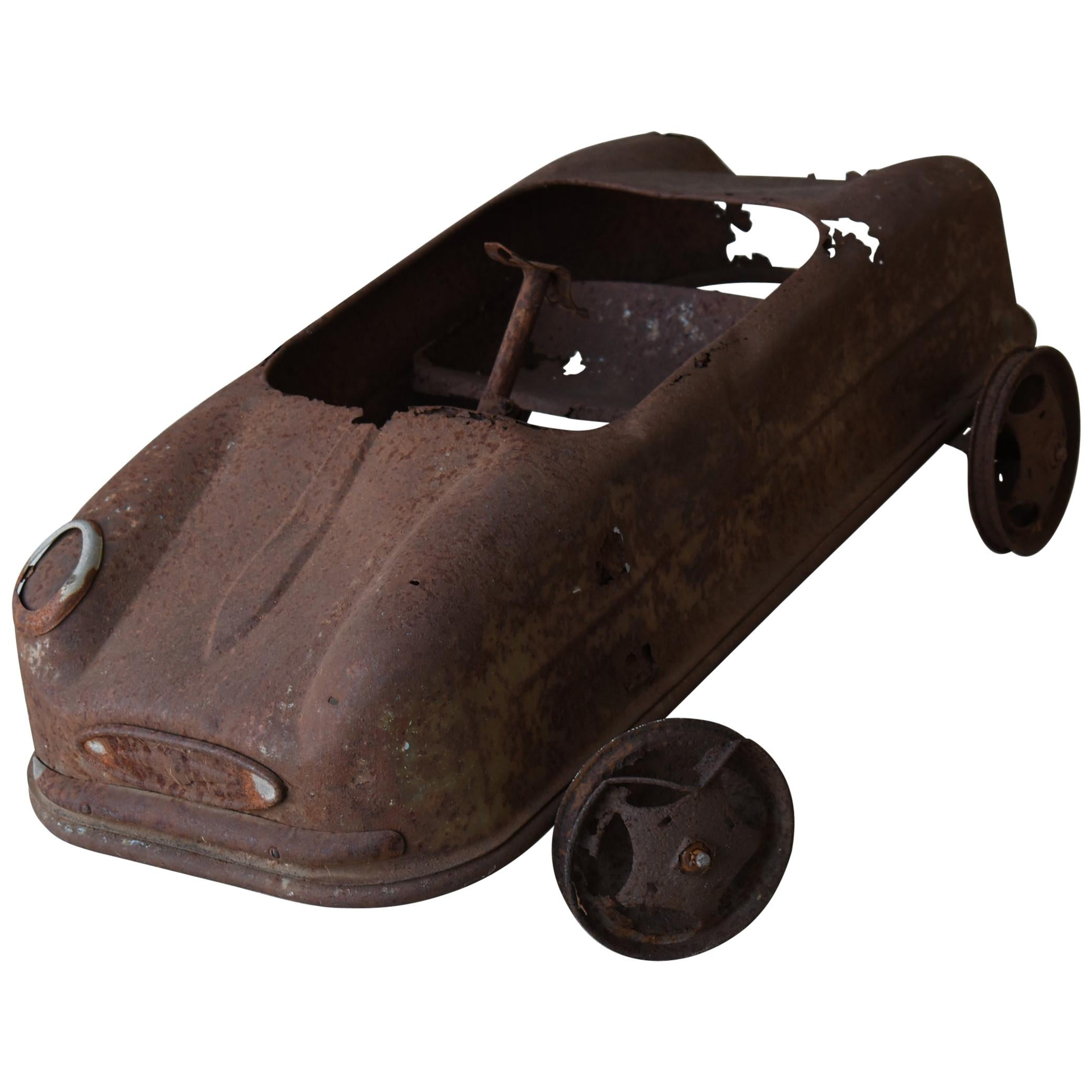 Japanese Rusted Car Toys/Antique Figurine Object Contemporary Art Wabisabi