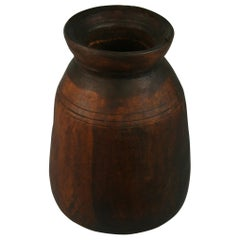 Japanese Rustic Turned Wood Container