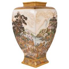 Japanese Ryozan Satsuma Vase, Meiji Perod, 1868-1912