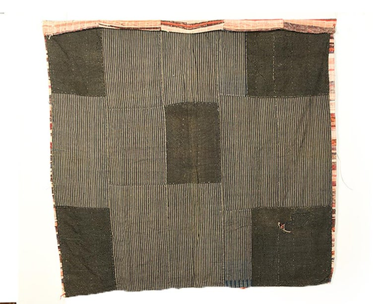 Japanese 'Saki-ori' Rug with Patchwork Cotton Backing, Early 20th Century For Sale 2