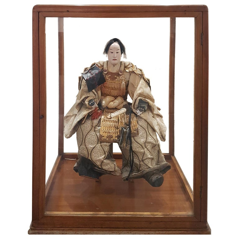 Japanese Samurai Doll, End of 18th Century For Sale