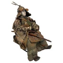 Japanese Samurai Doll or Figure, Meiji Period, Circa 1830