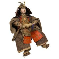 Japanese Samurai Doll or Figure, Meiji Period, circa 1870s