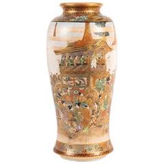 Japanese Satsuma Meiji Period, Ryozan Vase