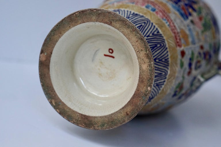 Japanese Satsuma Vase with Figures For Sale 12