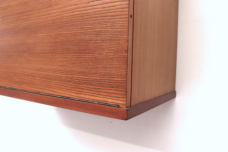 Japanese Series Teak Wall Mount Cabinet for Pastoe For Sale 6