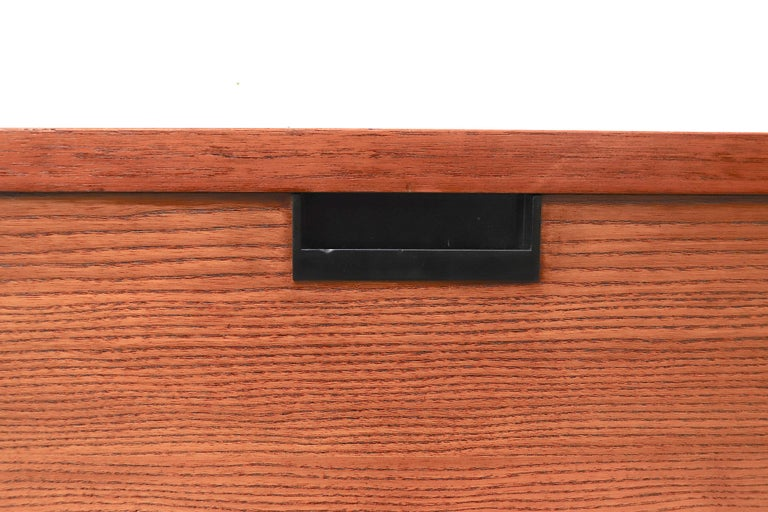 Japanese Series Teak Wall Mount Cabinet for Pastoe In Good Condition For Sale In Los Angeles, CA