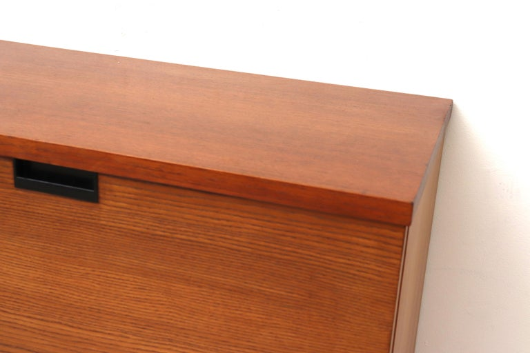 Late 20th Century Japanese Series Teak Wall Mount Cabinet for Pastoe For Sale