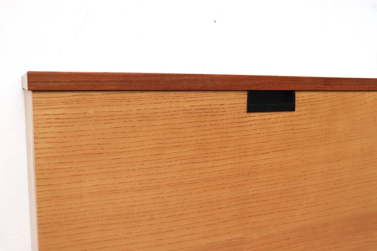 Mid-Century Modern Japanese Series Two Toned Wall Mount Cabinet for Pastoe