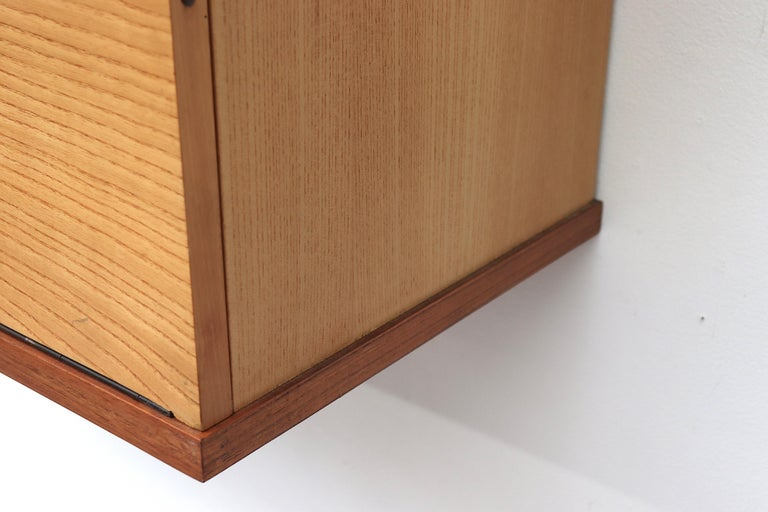 Late 20th Century Japanese Series Two Toned Wall Mount Cabinet for Pastoe