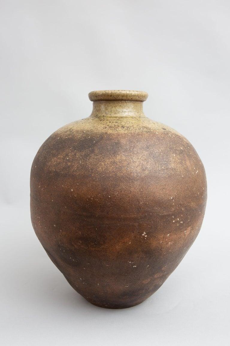18th Century Japanese Shigaraki Grain Storage Jar For Sale