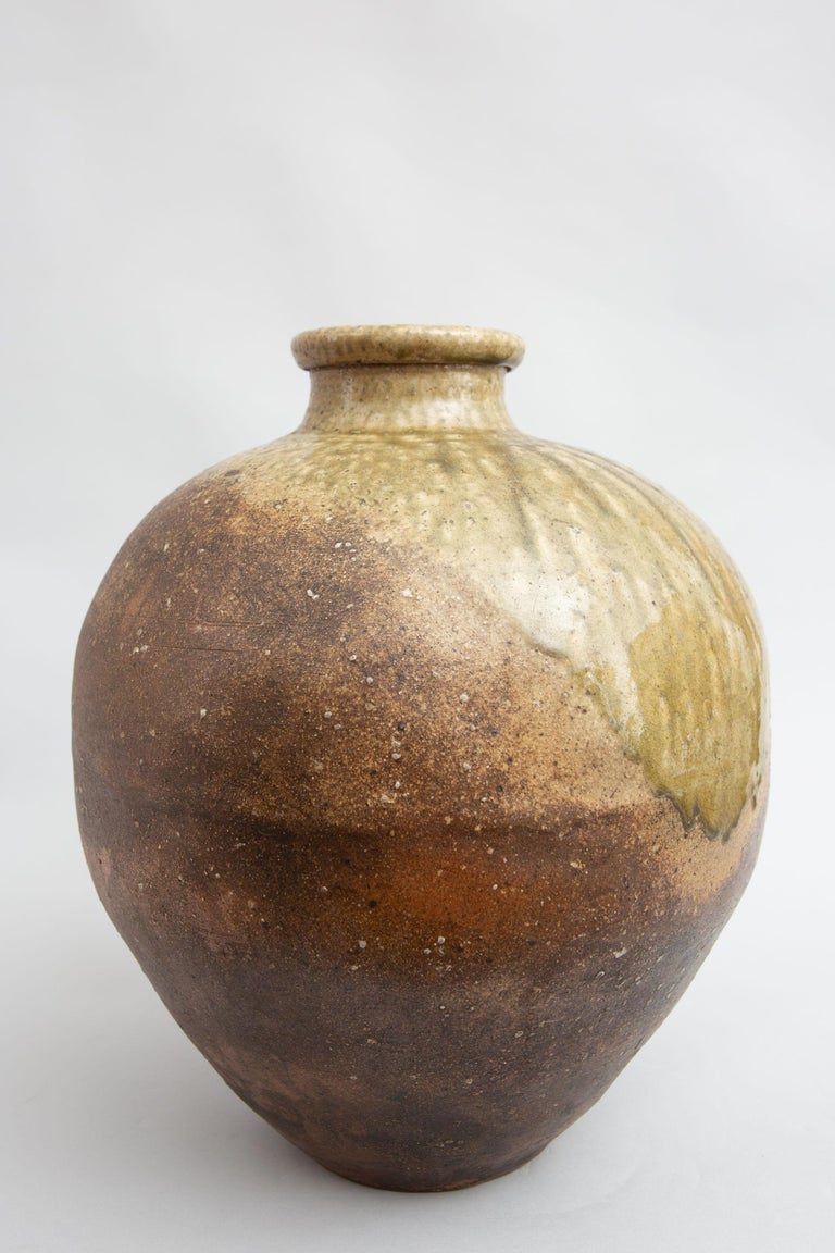 Pottery Japanese Shigaraki Grain Storage Jar For Sale