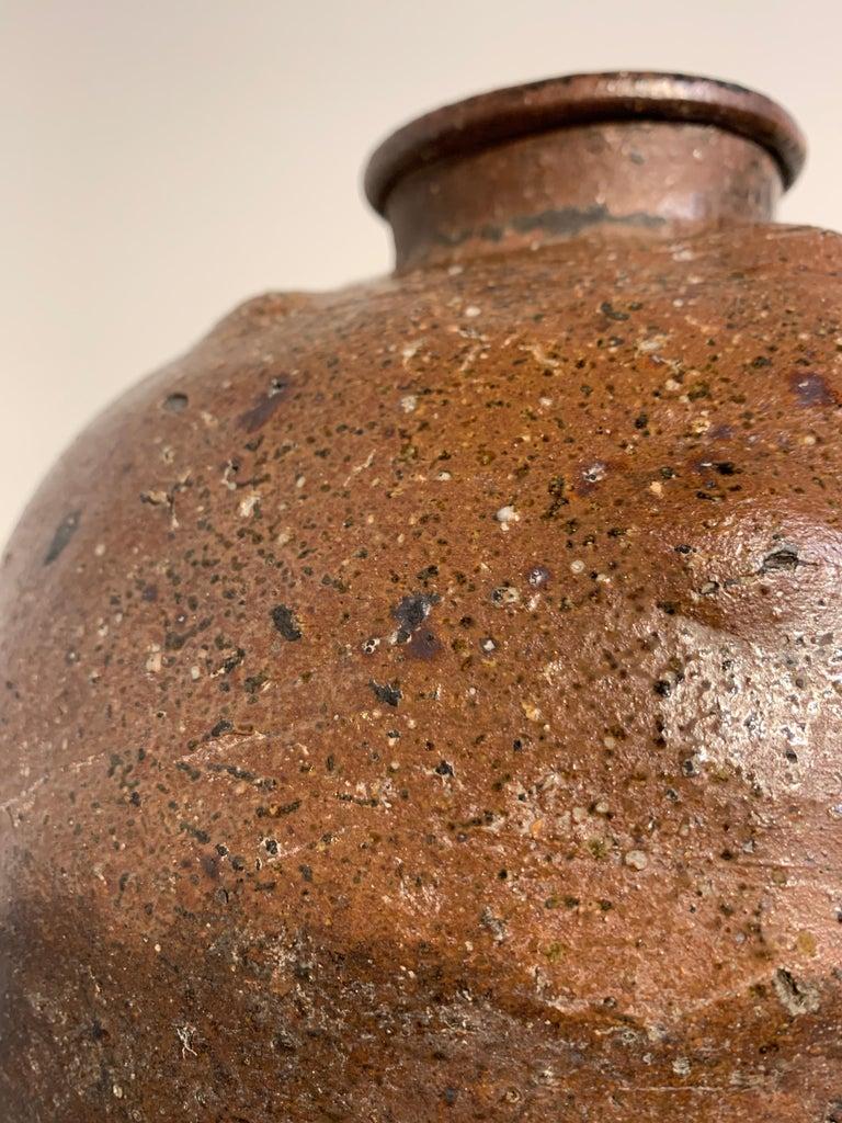 Japanese Shigaraki Large Storage Jar, Tsubo, Muromachi to Edo Period, circa 1600 For Sale 5