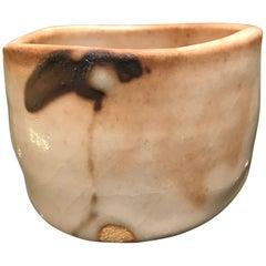 Japanese Shino Pottery Tea Bowl