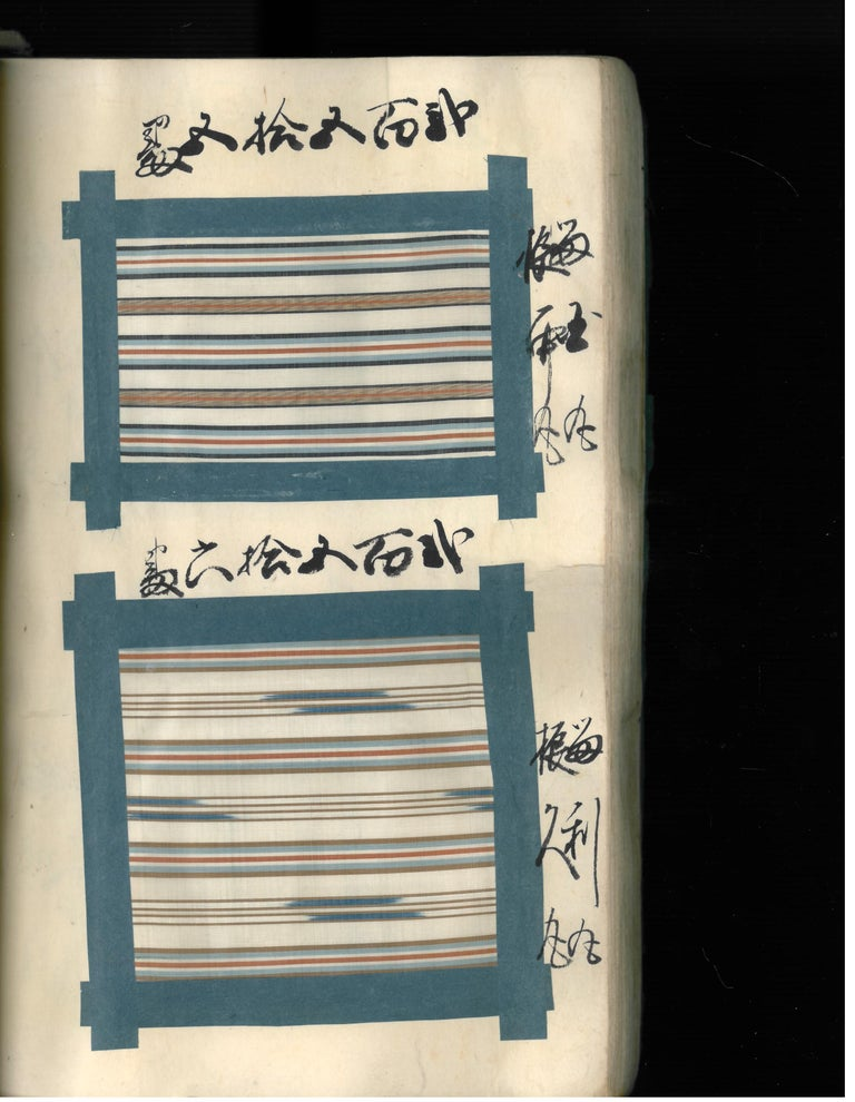 Japanese Silk Textile Swatch Book 'Late 19th Century', Book For Sale 4