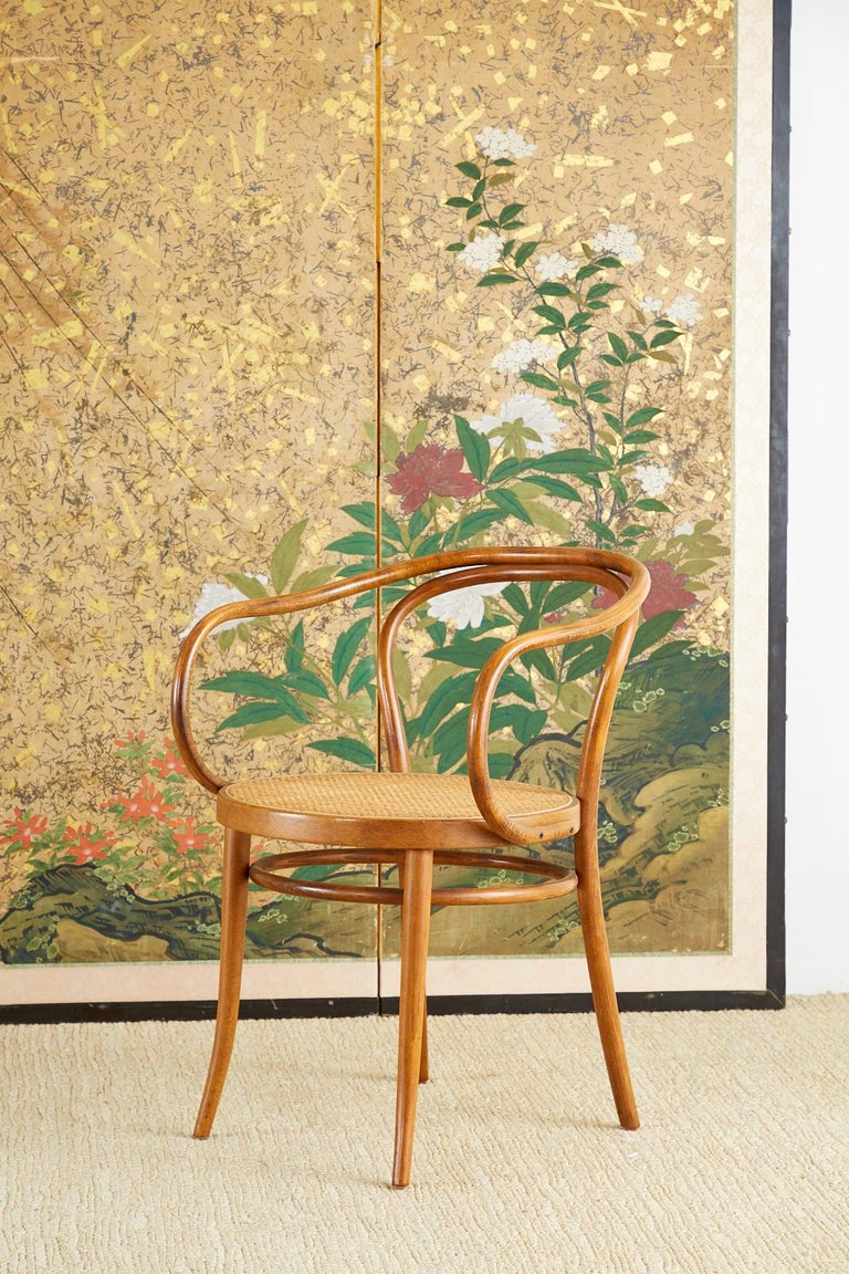 Japanese Six-Panel Edo Screen Willow with Flowers For Sale 10