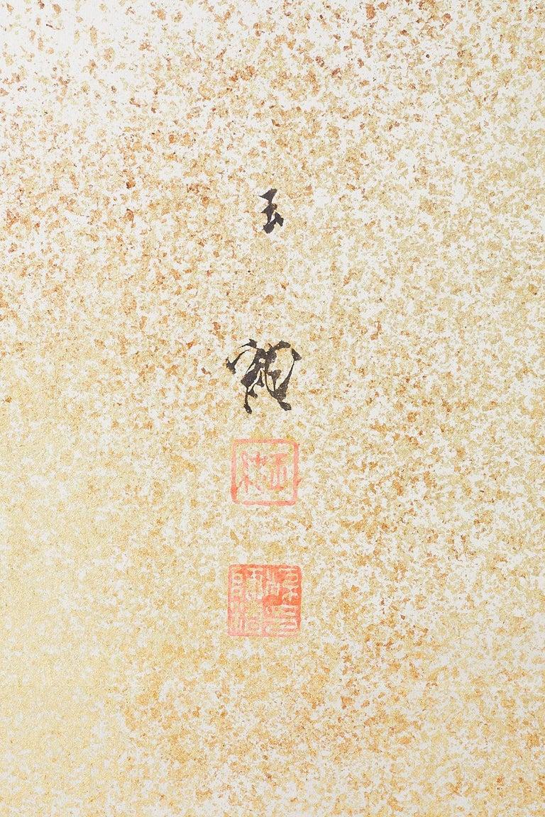 Japanese Six-Panel Meiji Screen Kinkakuji in Winter For Sale 3