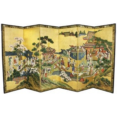 Japanese Six-Panel Paper Screen