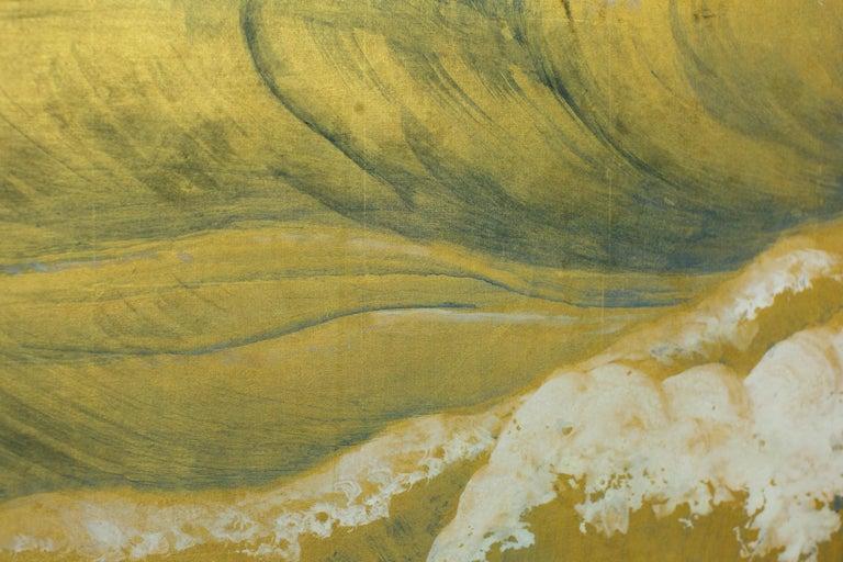 Japanese Six Panel Screen, Craggy Coastal Landscape For Sale 6