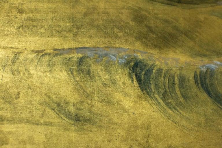 Japanese Six Panel Screen, Craggy Coastal Landscape For Sale 4