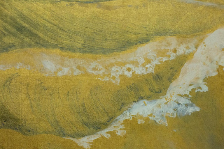 Japanese Six Panel Screen, Craggy Coastal Landscape For Sale 5