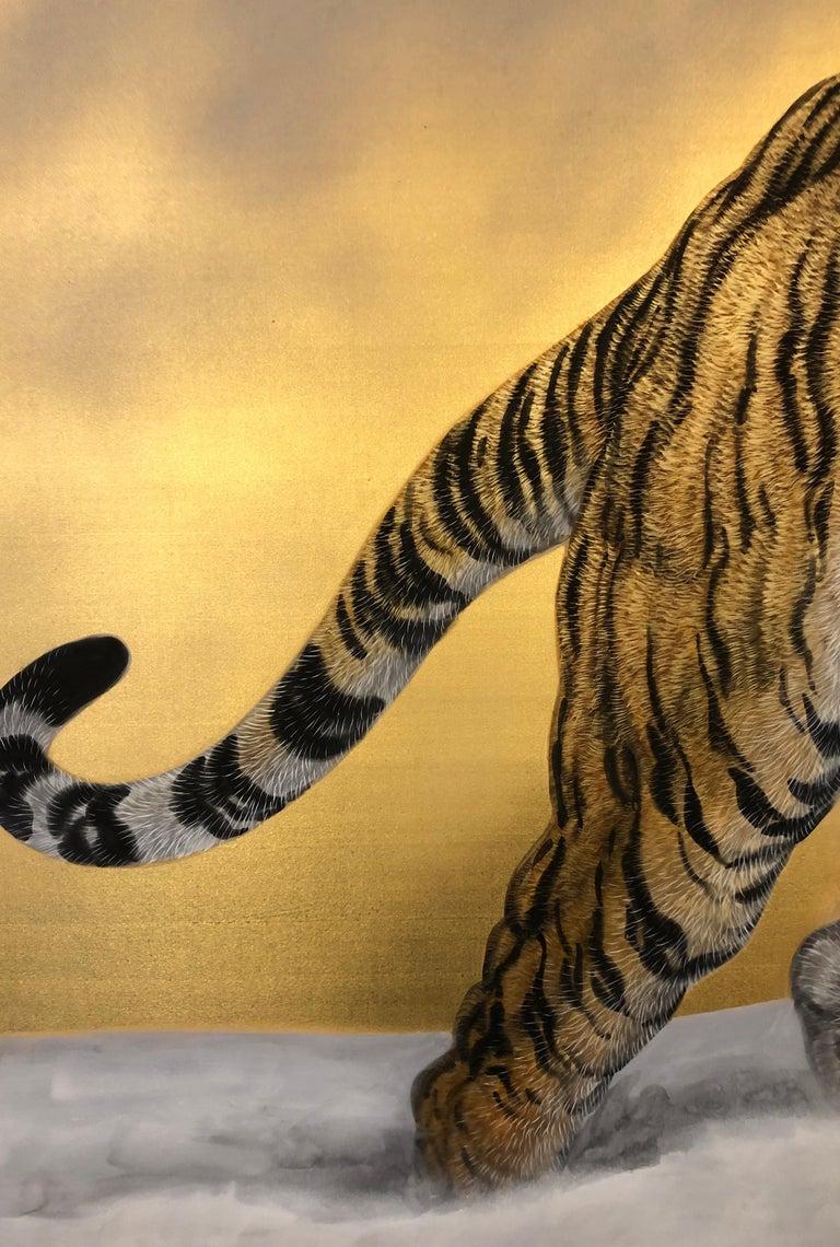 Japanese Six-Panel Screen Siberian Tigers 1