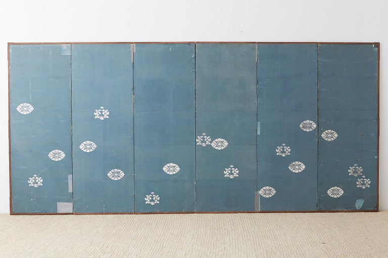 Japanese Six-Panel Screen Snowscape after Maruyama Okyo For Sale 13