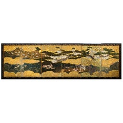 Japanese Six Panel Screen Spring into Summer