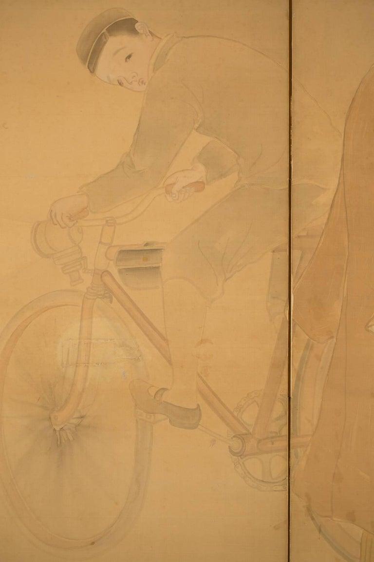 19th Century Japanese Six-Panel Screen