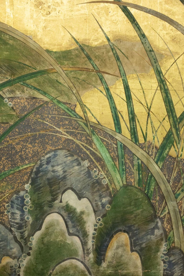 Japanese Six-Panel Screen Winter Into Spring For Sale 3