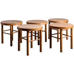 Japanese Solid Oak Stools