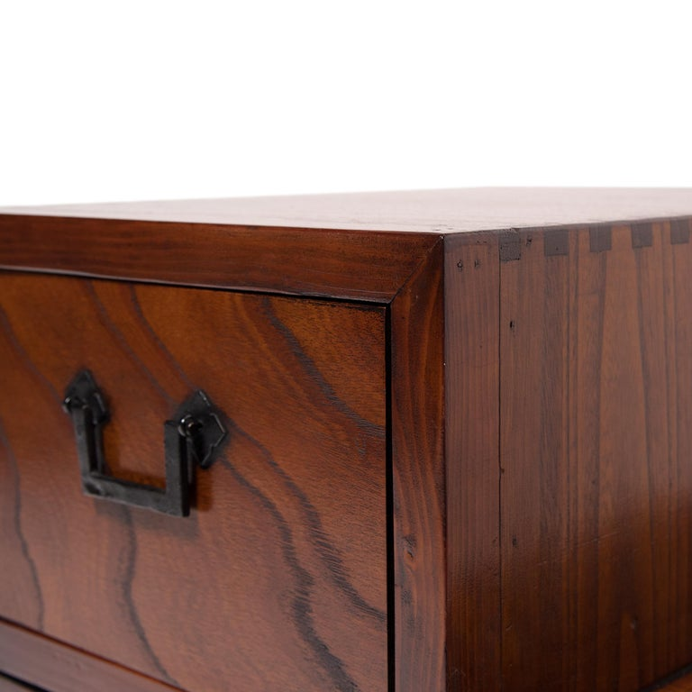 Japanese Step Tansu Chest, circa 1930s For Sale 5
